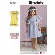 8661 Simplicity Pattern: Child's Dresses and Top